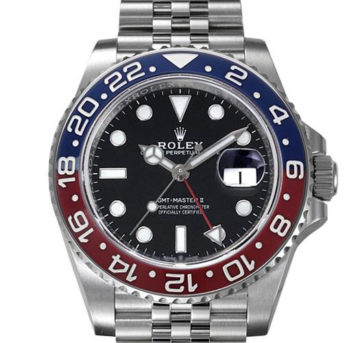 ロレックス GMTマスターII 126710BLRO(赤青ベゼル)、126710BLNR、116710BLNR(青黒ベゼル)
